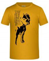 APBT Streetwear BIG PIT KID póló sárga