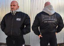 APBT Streetwear PIT BULL FEELING kapucnis bomber jacket fekete