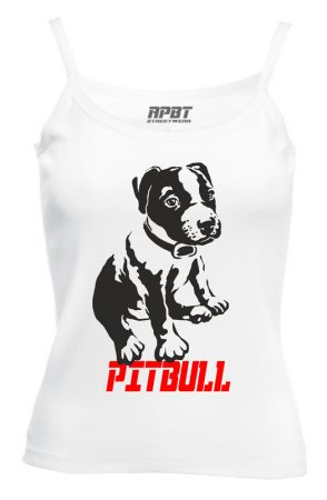 APBT Streetwear Puppy PIT női trikó fehér