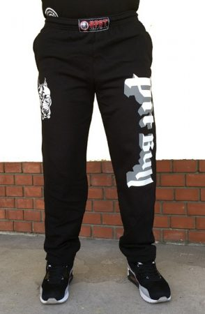 APBT Streetwear PIT BULL ULTIMATE szabadidő nadrág fekete