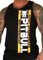APBT Streetwear PIT BULL GANG trikó fekete-sárga