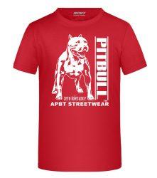 APBT Streetwear PITBULL ZERO T KID póló PIROS