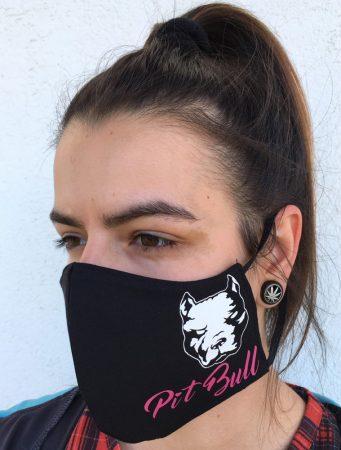 APBT Streetwear PIT BULL Pink HEAD szájmaszk