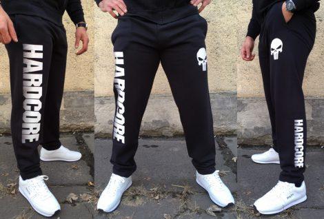 APBT Streetwear HARDCORE UNDERGROUND szabadidő nadrág fekete-fehér