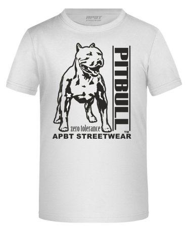 APBT Streetwear PITBULL ZERO T KID póló FEHÉR