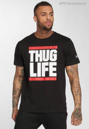 THUG LIFE  T-SHIRT  B.FIGHT  (fekete)