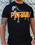 APBT Streetwear PIT BULL GREAT FIGHTER póló FEKETE