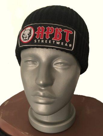 APBT Streetwear PITBULL kötött pamut sapka (Fekete)