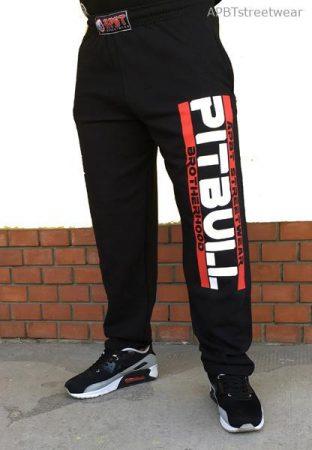 APBT Streetwear PITBULL GANG szabadidő nadrág fekete