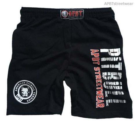 APBT streetwear PIT BULL FANATICS short fekete