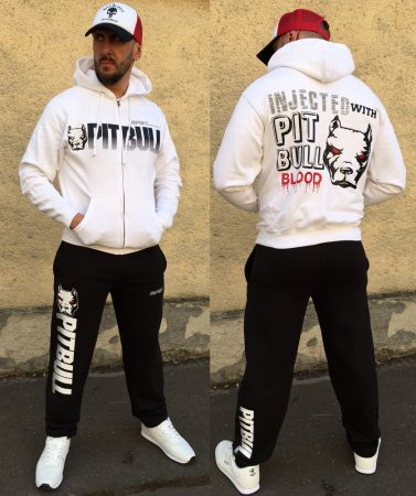 APBT Streetwear PIT BULL BLOOD szabadidőruha FEHÉR/FEKETE