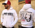 APBT Streetwear PITBULL BLOOD pulóver FFEHÉR