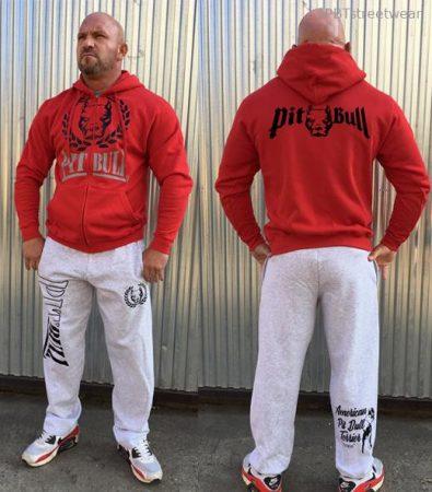 APBT Streetwear PITBULL DUAL szabadidőruha piros-szürke