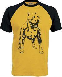APBT Streetwear PITBULL ZERO T Baseball póló sárga/fekete