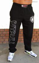 APBT Streetwear PIT BULL HISTORY szabadidő nadrág fekete