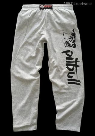 APBT Streetwear PIT BULL REAL FIGHTER szabadidő nadrág szürke