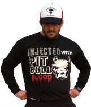 APBT Streetwear PIT BULL BLOOD SWEATSHIRT pulóver FEKETE  S-5XL-ig