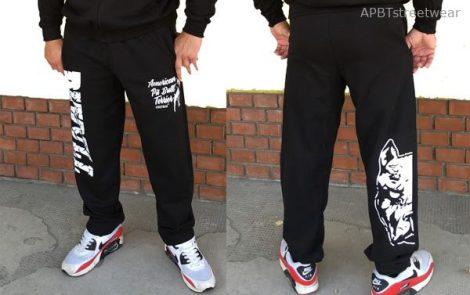 APBT Streetwear PIT BULL DESTROYER szabadidőnadrág fekete