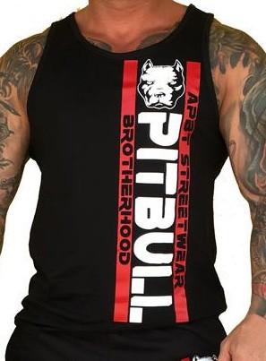 APBT Streetwear PIT BULL GANG Trikó BLACK/RED