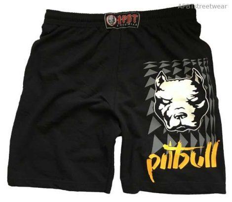 APBT streetwear PIT BULL THOR short fekete
