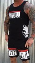 APBT streetwear PIT BULL LIFE short+trikó szett fekete