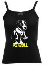 APBT Streetwear Puppy PIT női trikó fekete