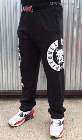 APBT Streetwear PIT BULL VITALITY szabadidő nadrág fekete-fehér