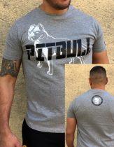 APBT Streetwear PIT BULL GREAT FIGHTER póló szürke
