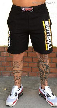 APBT streetwear PIT BULL GANG short fekete-sárga