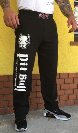 APBT Streetwear PITBULL HEAD 17 szabadidő nadrág fekete