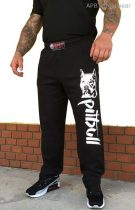 APBT Streetwear PIT BULL REAL FIGHTER szabadidő nadrág fekete