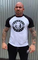 APBT Streetwear PITBULL VITALITY Baseball póló fehér/fekete