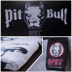 APBT Streetwear PIT BULL Törölköző fekete/fehér