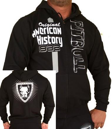 APBT Streetwear PIT BULL HISTORY pulóver fekete  S-5XL-ig