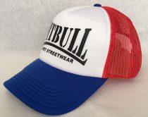 APBT Streetwear PITBULL - TRUCKER CAP / fehér-piros-kék