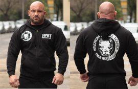 APBT Streetwear PIT BULL P.W.W. kapucnis pulóver fekete