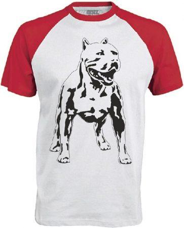 APBT Streetwear PITBULL ZERO T Baseball póló fehér/piros