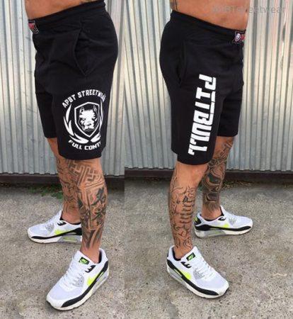 APBT streetwear FULL CONTACT short fekete-fehér