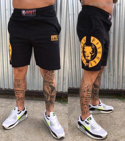 APBT streetwear VITALITY short fekete-sárga