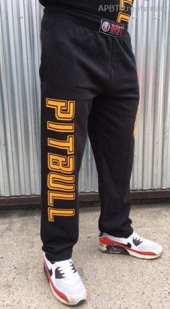 APBT Streetwear PIT BULL VITALITY szabadidő nadrág fekete-sárga
