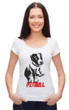 APBT Streetwear Puppy PIT női póló fehér