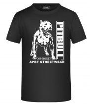 APBT Streetwear PITBULL ZERO T KID póló FEKETE