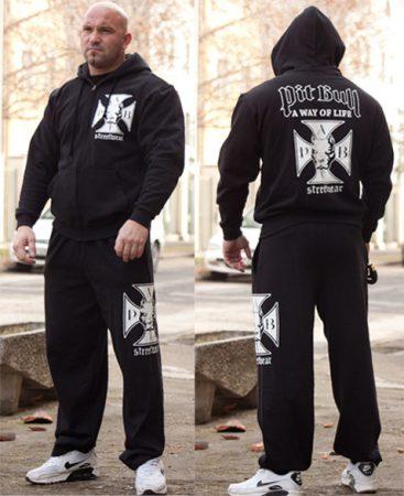 APBT streetwear IRON CROSS szabadidőruha fekete