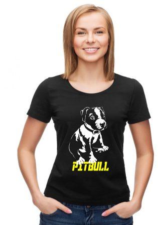 APBT Streetwear Puppy PIT női póló fekete