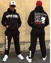 APBT Streetwear PIT BULL BLOOD szabadidőruha fekete