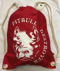 APBT Streetwear PIT BULL DESTROYER Gymsac Piros