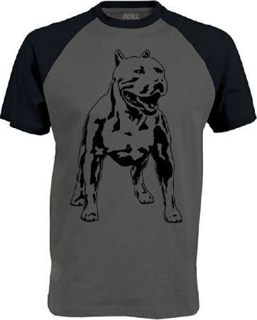APBT Streetwear PITBULL ZERO T Baseball póló szürke/fekete