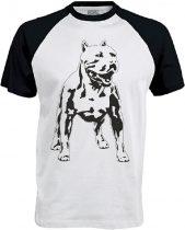 APBT Streetwear PITBULL ZERO T Baseball póló fehér/fekete