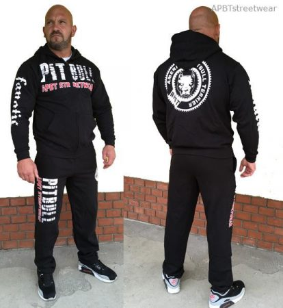 APBT Streetwear PIT BULL FANATICS szabadidőruha fekete