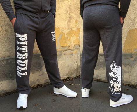 APBT Streetwear PIT BULL DESTROYER szabadidőnadrág Dark Grey
